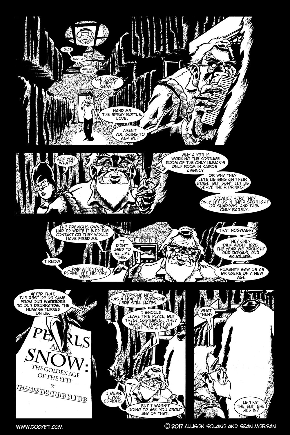 This Yeti for Hire! or the Yeti with the Lace Kerchief! Issue 2 pg.4
