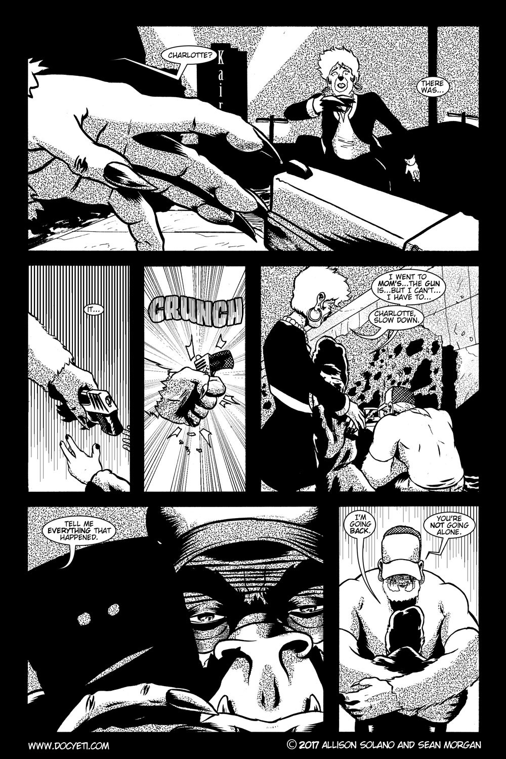 This Yeti for Hire! or the Yeti with the Lace Kerchief! Issue 2 pg.15