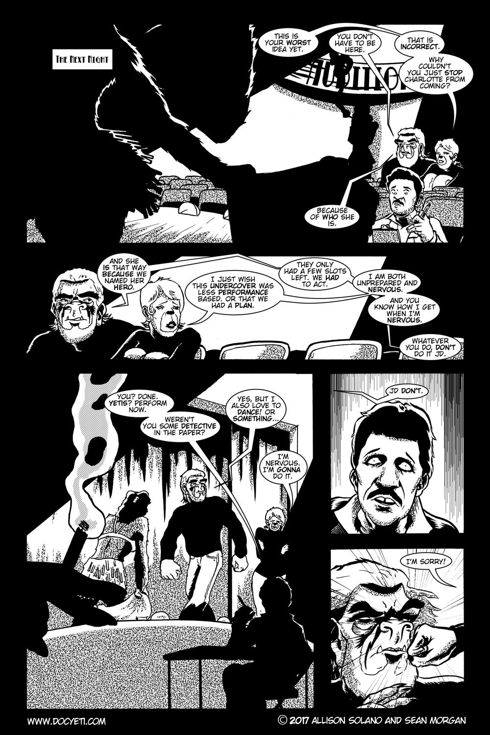 This Yeti for Hire! or the Yeti with the Lace Kerchief! Issue 2 pg.16