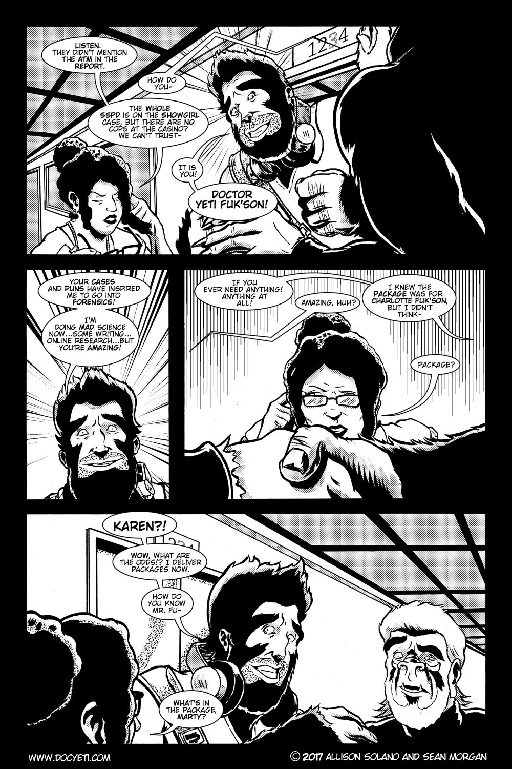 This Yeti for Hire! or the Yeti with the Lace Kerchief! Issue 3 pg.05