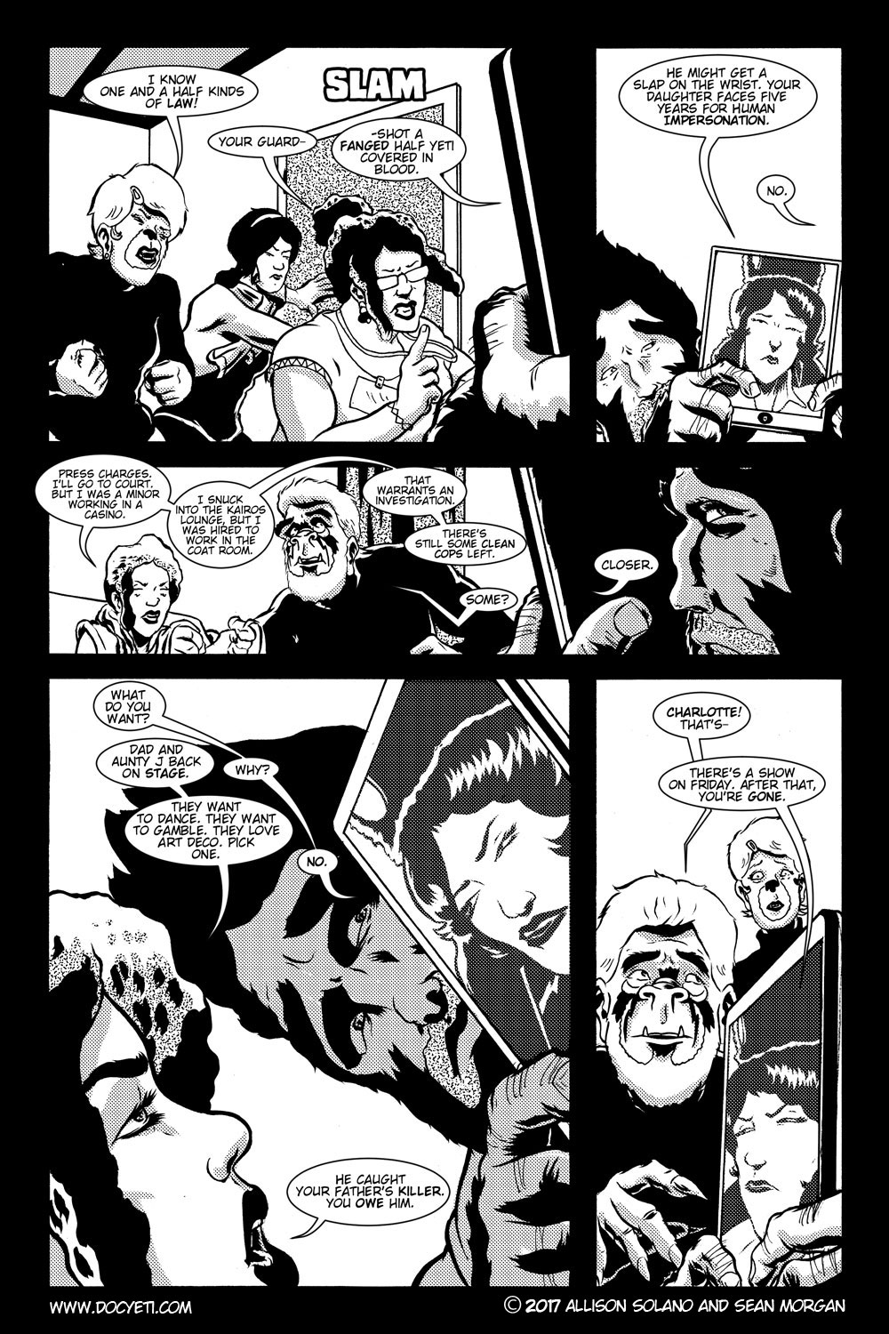 This Yeti for Hire! or the Yeti with the Lace Kerchief! Issue 3 pg.07