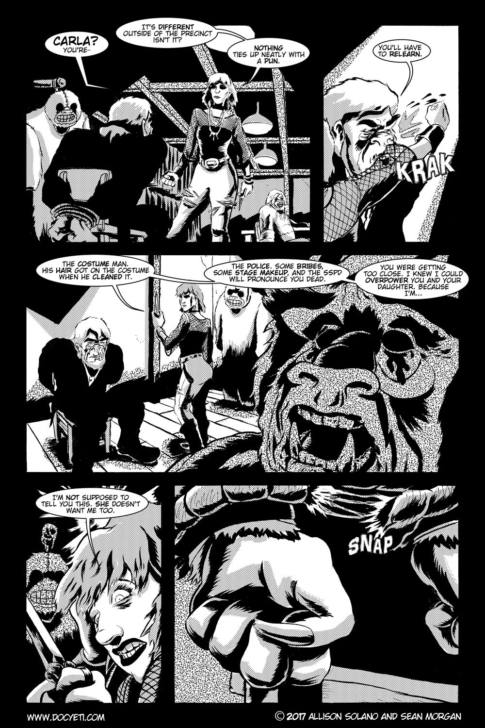 This Yeti for Hire! or the Yeti with the Lace Kerchief! Issue 3 pg.18
