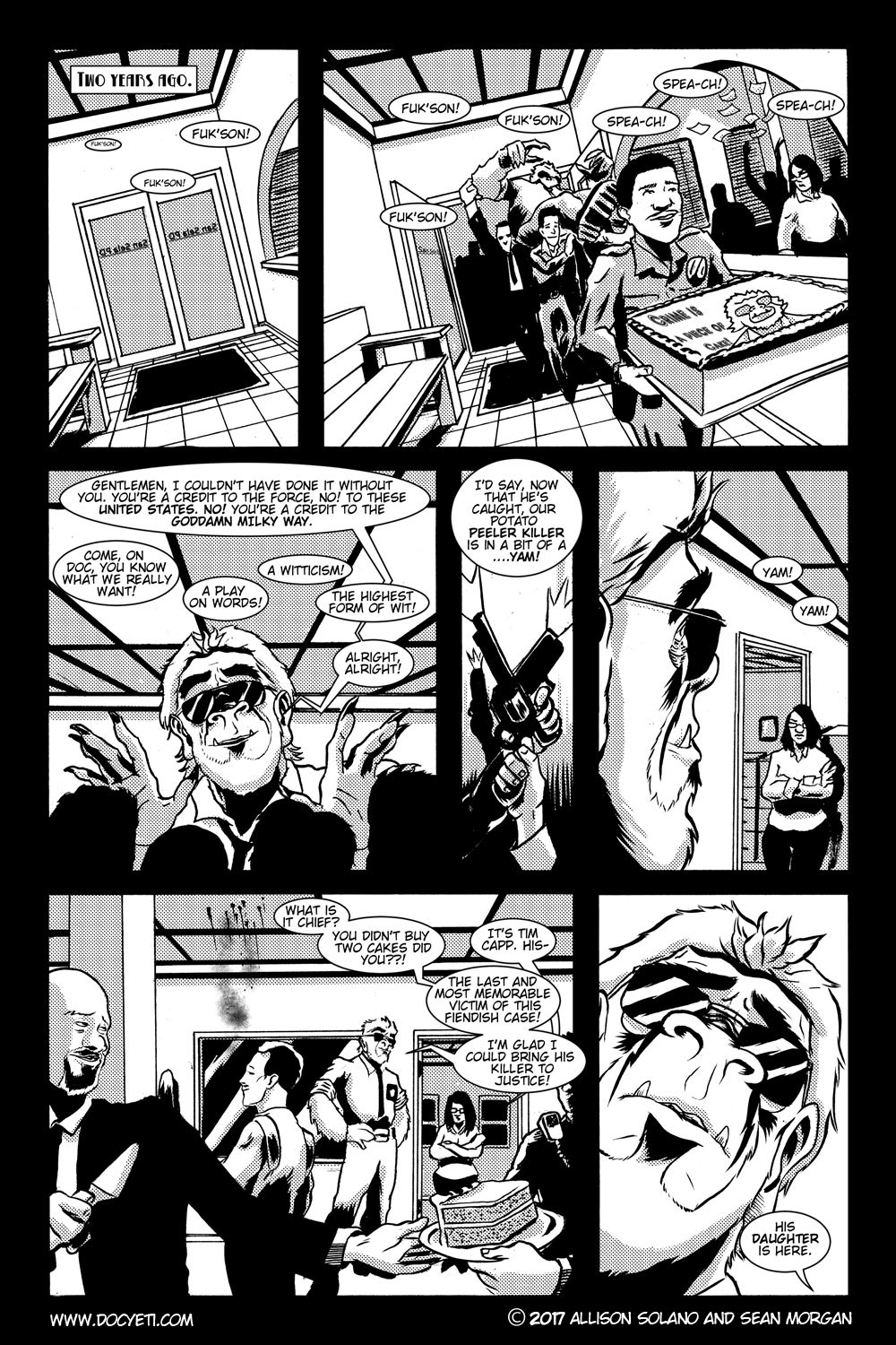 This Yeti for Hire! or the Yeti with the Lace Kerchief! Issue 2 pg.1